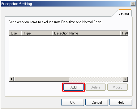 nProtect Anti-Virus/Spyware Exclusion Setting